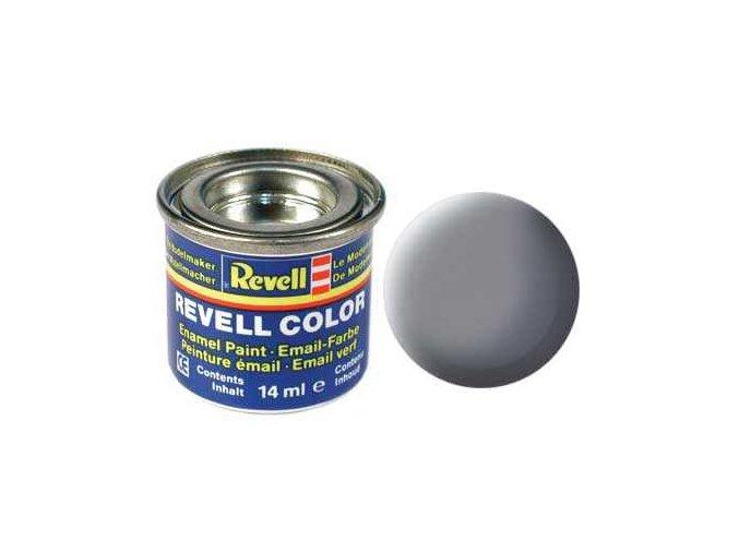 Revell - Barva emailová 14ml - č. 47 matná myší šedá (mouse grey mat), 32147