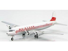 Hobbymaster - Douglas DC-6, dopravce Western Airlines, USA,1/200