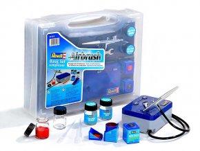 Revell - Airbrush Komplet Set - základní řada s kompresorem, 39199