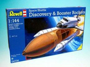 Revell - raketoplán Discovery + nosné rakety, ModelKit 04736, 1/144
