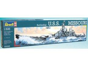 Revell - bitevní loď USS Missouri (BB-63),  ModelKit 05092, 1/535