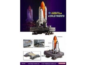 Dragon - raketoplán Endeavor, startovní konfigurace na pásovém transportéru, 1/400