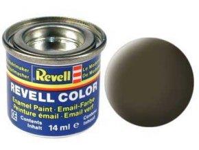 Revell - Barva emailová 14ml - č. 40 matná černozelená (black-green mat), 32140