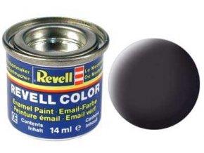 Revell - Barva emailová 14ml - č. 6 matná dehtově černá (tar mat), 32106