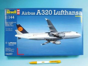 Revell - Airbus A320 Lufthansa, 1/144, ModelKit 04267