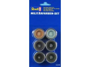 Revell - Sada barev 6x14ml Email color 32340 - vojenské