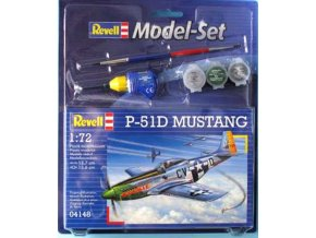 Revell - North American P-51D Mustang, USAAF, 359 FG, 368 FS, Anglie, ModelSet 64148, 1/72