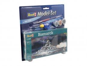 Revell - bitevní loď Bismarck, Kriegsmarine, ModelSet 65802, 1/1200