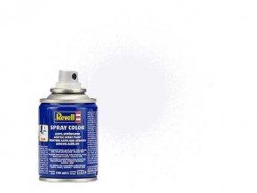 Revell - Barva ve spreji 100 ml - matná bílá (white mat), 34105