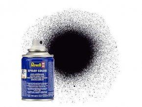 Revell - Barva ve spreji 100 ml - matná černá (black mat), 34108