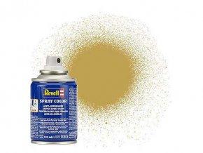 Revell - Barva ve spreji 100 ml - matná pískově žlutá (sandy yellow mat), 34116
