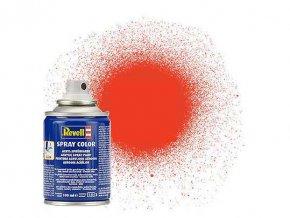 Revell - Barva ve spreji 100 ml - matná světle oranžová (luminous orange mat), 34125