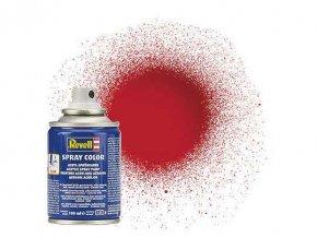 Revell - Barva ve spreji 100 ml - lesklá ferrari červená (Ferrari red gloss), 34134