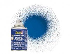 Revell - Barva ve spreji 100 ml - lesklá modrá (blue gloss), 34152