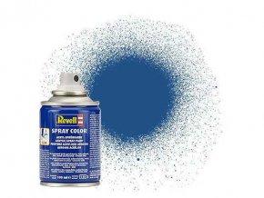 Revell - Barva ve spreji 100 ml - matná modrá (blue mat), 34156
