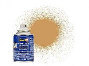 Revell - Barva ve spreji 100 ml - matná okrově hnědá (ochre brown mat), 34188