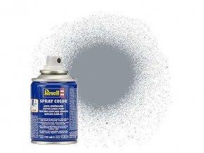 Revell - Barva ve spreji 100 ml - metalická ocelová (steel  metallic), 34191