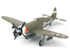 HobbyMaster - Republic P-47D Thunderbolt, USAAF 334th FS,  Steve Pisanos, 1943, signovaná edice, 1/48