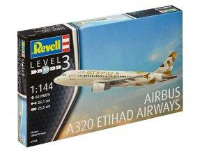 Revell - Airbus A320, Etihad, 1/144, ModelKit 03968