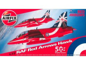 Airfix - British Aerospace BAE Hawk, Red Arrows, Classic Kit A02005B, 1/72