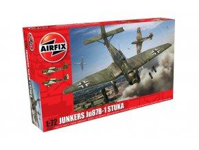 Airfix - Junkers Ju-87 Stuka, nová forma, Classic Kit A03087, 1/72
