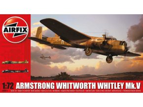Airfix - Armstrong Whitworth Whitley Mk.V, nová forma, 1/72, Classic Kit A08016