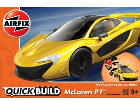 Airfix - McLaren P1, žlutá, Quick Build J6013