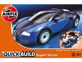 Airfix - Bugatti Veyron, modrá, Quick Build J6008