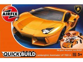 Airfix - Quick Build auto J6007 - Lamborghini Aventador - oranžová