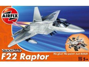 Airfix - Quick Build letadlo J6005 - Lockheed Martin F-22A Raptor