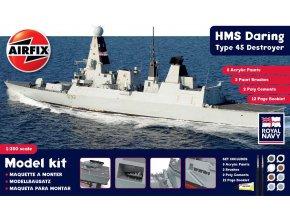 Airfix - raketový torpédoborec H.M.S. Daring, 1/350, Gift Set A50132
