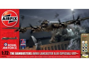 Airfix - Avro Lancaster B.III, Dambusters, 1/72, Gift Set A50138