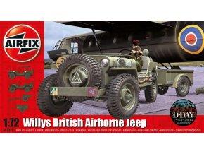 Airfix - Jeep Willys s přívěsným vozíkem a houfnicé 6 pdr, 1/72, Classic Kit A02339