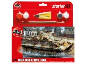 Airfix - Pz.Kpfw.VI Ausf.B Kingtiger, 1/76, Starter Set A55303