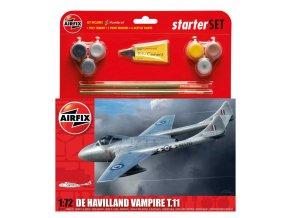 Airfix - de Havilland Vampire T.11, Starter Set A55204, 1/72