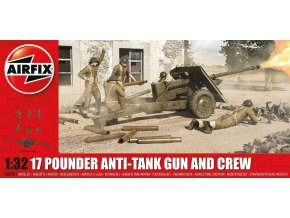Airfix - protitankové dělo OQF 17 pounder, reedice, 1/32, Classic Kit A06361