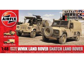 Airfix - Set Land Rover Defender, britská armáda, 1/48, Classic Kit A06301