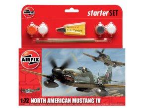 Airfix - North American P-51D Mustang, Starter Set A55107, 1/72