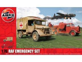 Airfix - diorama záchranných vozidel RAF, 1/76, Classic Kit A03304