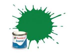 Humbrol - barva emailová 14ml - No 2 Emerald - Gloss, AA0028