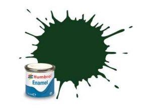 Humbrol - barva emailová 14ml - No 3 Brunswick Green - Gloss, AA0031