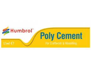 Humbrol - lepidlo na plasty 12ml tuba, Poly Cement Medium, AE4021