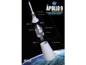 Dragon - Apollo 9, NASA, velitelský a servisní modul, únikový systém, 1/72