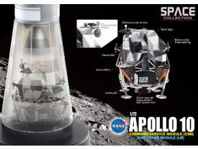 Dragon - Apollo 10, NASA, velitelský, servisní a lunární modul, 1/72