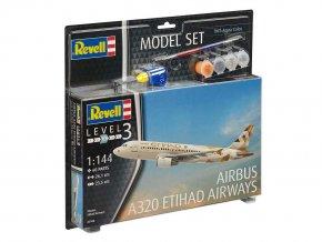 Revell - Airbus A320, Etihad Airways, 1/144, ModelSet 63968