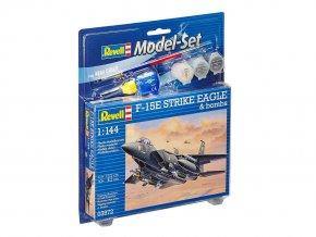 Revell - McDonnell Douglas F-15E Strike Eagle a bomby, ModelSet 63972, 1/144