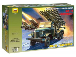 Zvezda - Raketomet BM 13 Kaťuša, Model Kit 3521, 1/35