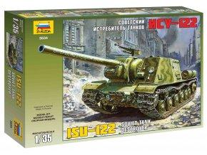 Zvezda - samohybné dělo ISU-122, sovětská armáda, Model Kit 3534, 1/35
