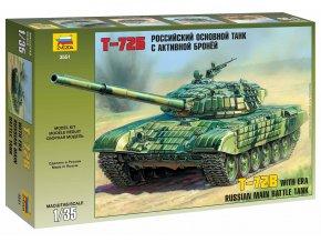 Zvezda - T-72B ERA, sovětská armáda, Model Kit 3551, 1/35
