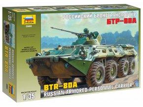 Zvezda - obojživelné obrněné vozidlo BTR-80A, Model Kit 3560, 1/35